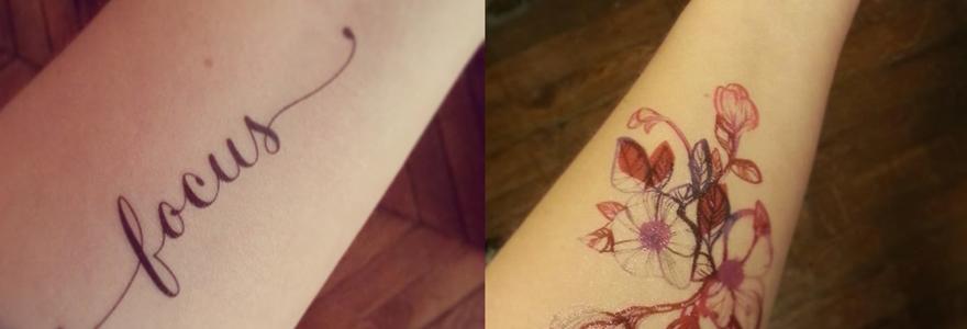 lettrage de tatouage parfait